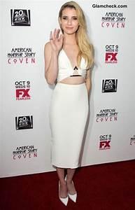 Emma Roberts in Cushnie et Ochs White Cutout Dress