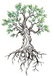 Beautiful Tree Drawing Tattoo
