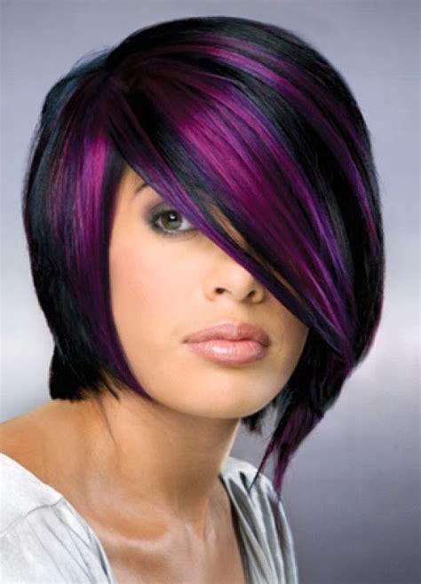 Purple Highlights For Short Hair Hair And Tattoos
