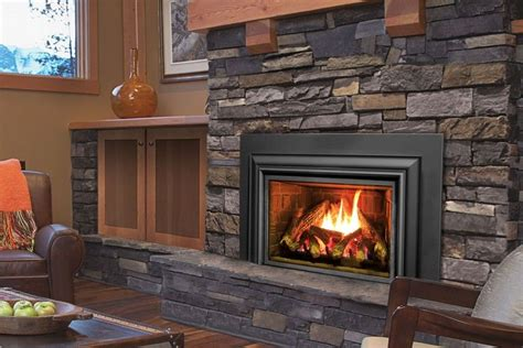 fireplace inserts wood burning  blower contemporary
