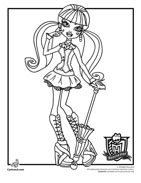 monster high coloring pages woo jr kids activities