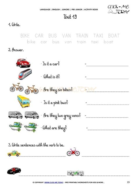 free printable beginner esl pre junior worksheet 19