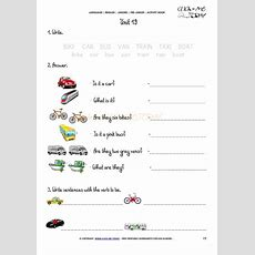 Free Printable Beginner Esl Prejunior Worksheet 19  Means Of Transport  English Preschool