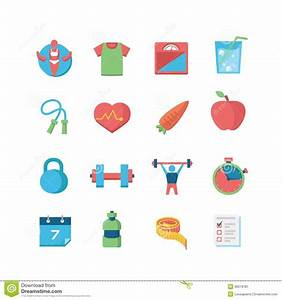 Health & Fitness Icons Stock Image - Image: 36019181