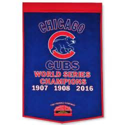 Chicago Cubs 3-Time Champs Dynasty Banner