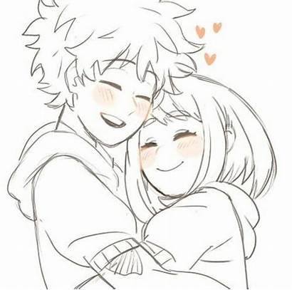 Izuocha Anime Dibujos Deku Amor Hero Parejas