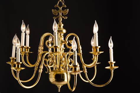 Two Tier Chandelier by Two Tier Brass Chandelier