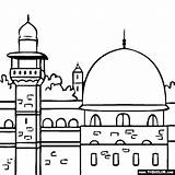 Masjid Aqsa Mosque Coloring Dome Clipart Colouring Islam Islamic Drawing Nabawi Weltreligionen Ramadan Coloriage Mosquee Eid Drawings Creative Mewarnai Gambar sketch template