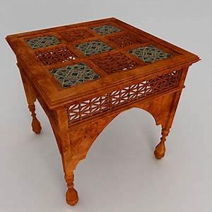3d model arabic coffee table for Arabic coffee table