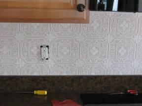 backsplash wallpaper for kitchen it frugal punched tin backsplash