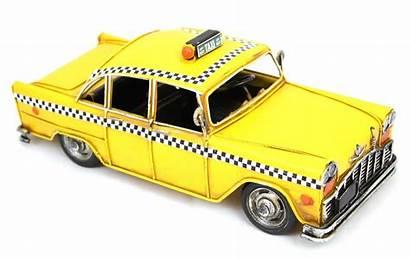 Taxi York Cab Yellow Tin Retro Boring