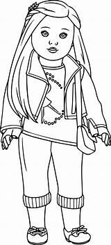 Coloring Pages Doll American Printables sketch template