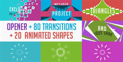 Cool Transitions After Effects Templates by 20 Cool After Effects Templates With Animated Shapes