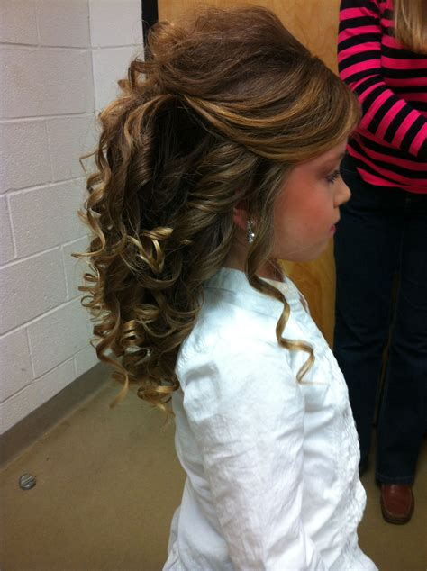 pageant hair love  side view   top