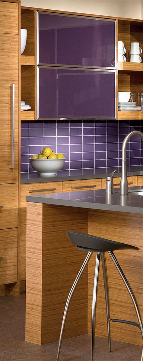 purple tiles kitchen contemporary kitchen design with bamboo cabinets uses 1691