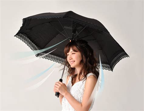 Umbrella With Built In Fan The Green Head