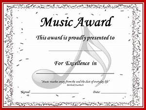 music awards editable music award certificates music With free award certificate templates for students