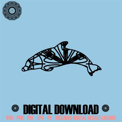 636 x 900 jpeg 63 кб. Dolphin Mandala Winter Edition SVG Digital Image Sell ...