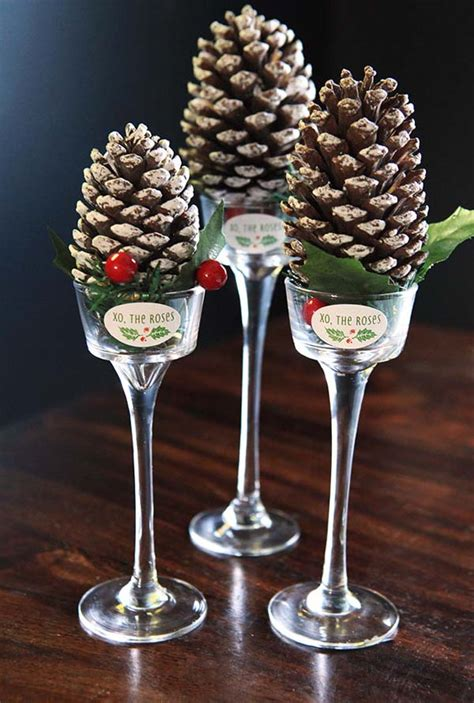 pine cone christmas table decorations most beautiful christmas table decorations ideas all