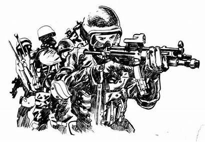 Law Swat Enforcement Agencies Sketch Stand Initials