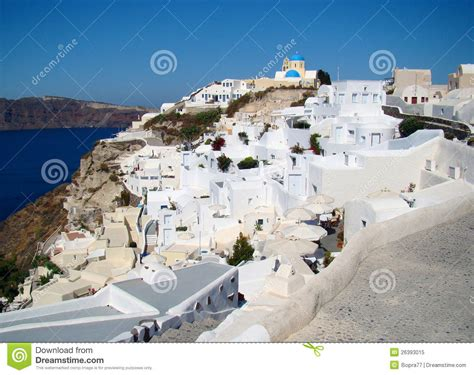 Beautiful Landscape View In Oia Town Santorini Stock
