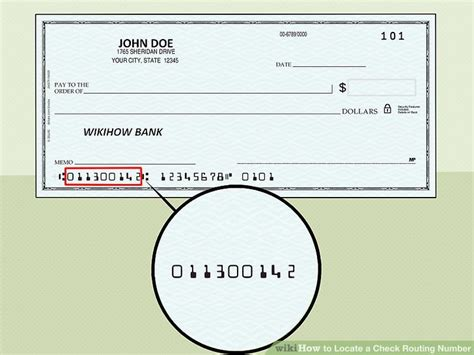 parts of a check routing number how to locate a check routing number 8 steps with pictures