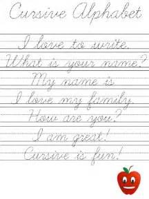 Practice Cursive Writing Worksheets Sentences