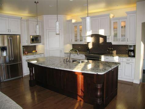kitchen cabinets maple arctic white island cabinets
