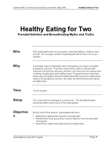 Breastfeeding Lesson Plans & Worksheets Reviewed by Teachers