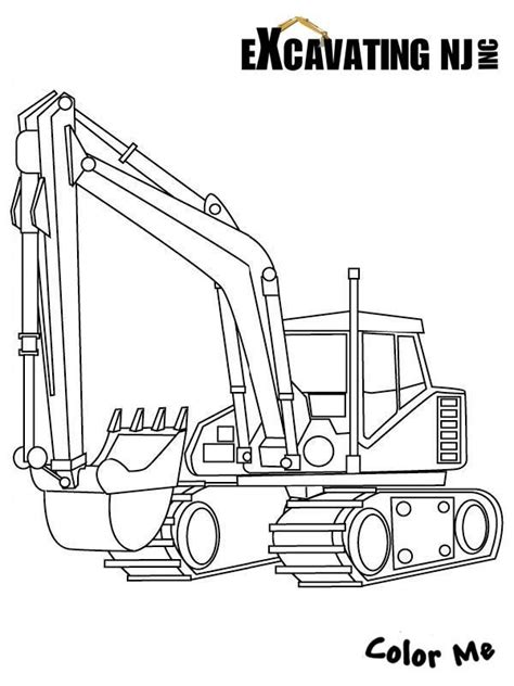 Coloring Excavator by Excavator Coloring Page Color Me For The Ones