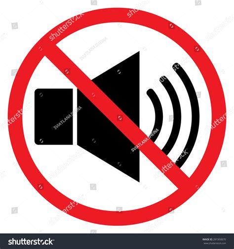 Indicating Signal Noise Ban Speaker Prohibition Stock