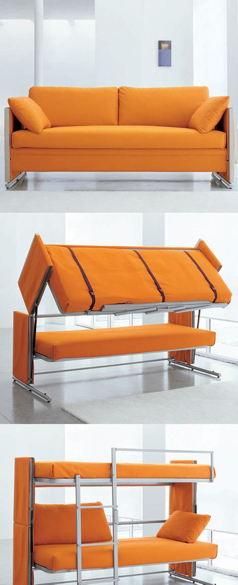 bunk bed settee doc is a sofa that turns into a bunk bed
