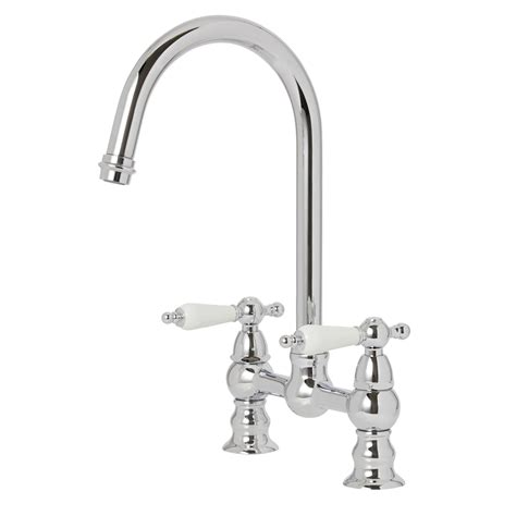 kitchen sink taps b and q cooke lewis sherrard chrome finish kitchen deck bridge 9577