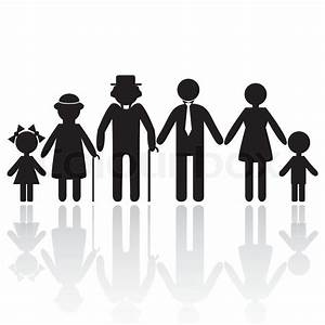 People silhouette family icon. Person vector woman, old ...