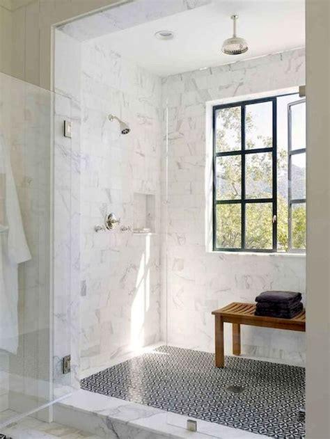stunning farmhouse walk  shower tiles remodel ideas