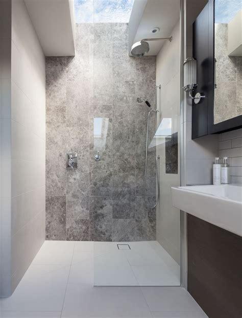 Peek Architecture Design Walk In Shower Stone Feature