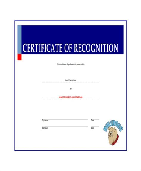 certificate  recognition templates  word
