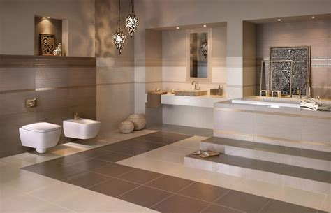 Badezimmer In Beige Modern Gestalten