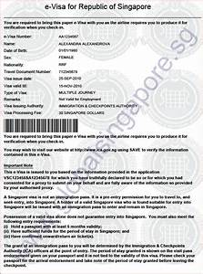 electronic multi entry visa to singapore global With e documents india