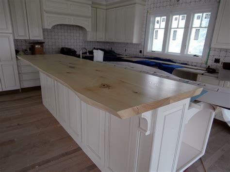 wood island tops kitchens live edge wood countertops custom