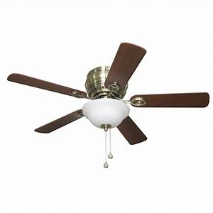 Harbor breeze ceiling fan light kit lowes : Harbor breeze mayfield in antique brass flush