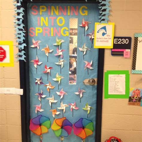 spring classroom door decor crafts school door