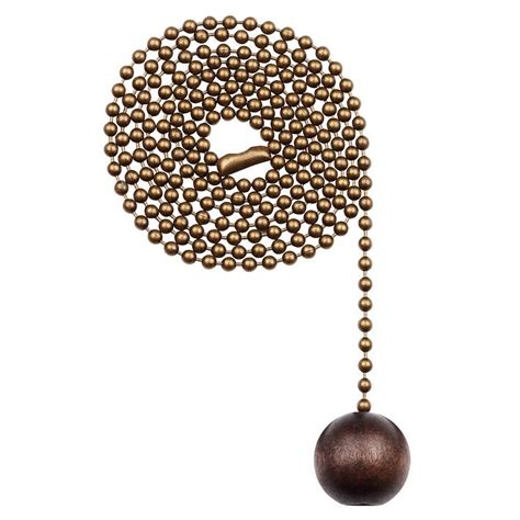 broken pull chain on ceiling fan westinghouse walnut wooden ball pull chain 7729000 the