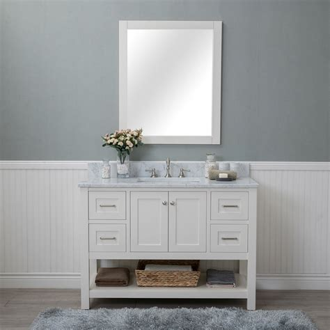 Bathroom Vanities - alya bath wilmington 48 in single bathroom vanity in