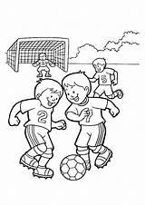 Coloring Football Momjunction Playing Gambar Sketsa Orang Pages sketch template