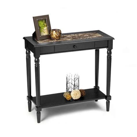 french country entryway table convenience concepts french country black foyer hall table