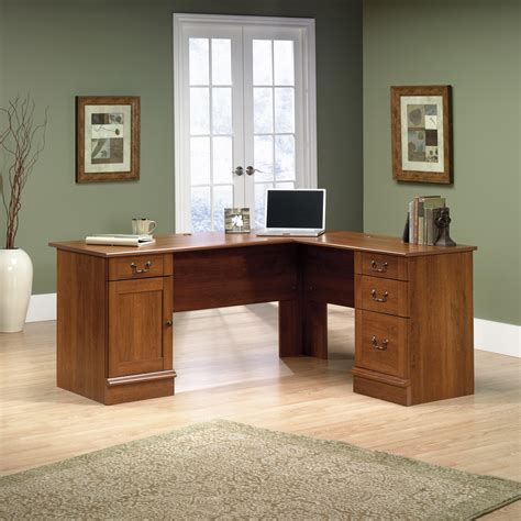Sauder L Shaped Desk Canada by L Shaped Computer Desk Shaker Cherry Finish Sauder