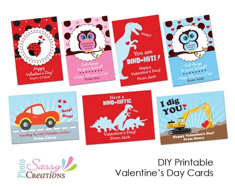 8 Best Images Of Valentine's Day Printable Cards For Kids