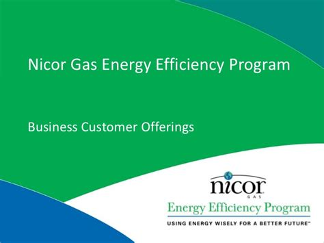 nicor gas  residential energy efficiency programs