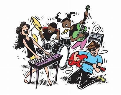 Band Rock Clipart Cartoon Transparent Clip Svg